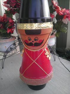 Nutcracker made from clay pots