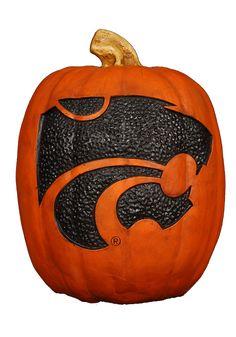 Kansas State Wildcats Pumpkin- Small Halloween Pumpkin
