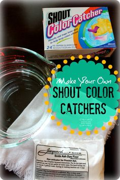 DIY Shout Color Catchers! Homemade Color Catchers for an Easy Laundry Detergent Idea!
