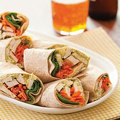 ... Wraps with Tahini Avocado Spread Recipe | Sandwiches & wraps