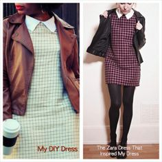 My #DIY Plaid Dress! Click the pic for more pictures :) #fashion #sewing