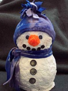 Winter crafts for kids - Craft projects and instructions; snowman crafts