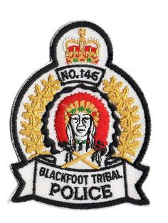 first nations, nativ american, blackfoot indian, polic patch