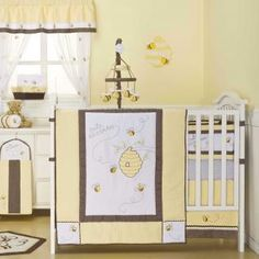 crib bedding, bees, bee nurseri, babi, little girl rooms