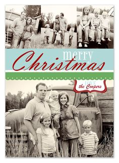 Free Christmas card templates!