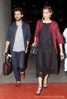 Airport spotting: Sonam Kapoor and Fawad Khan looking oh-so-stylish! View pics!  #FawaadKhan  #SoonamKapoor