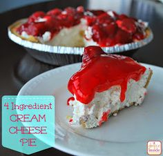 A Glimpse Inside: Easy 4 Ingredient Cream Cheese Pie