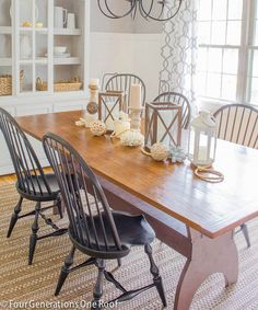 Summer dining room with lanterns