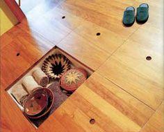 in-floor storage idea. great for bedrooms.