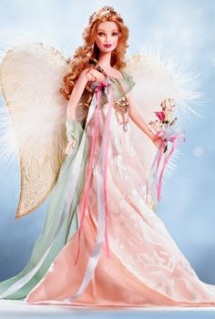 Golden Angel Barbie Doll - Collectible Angel Doll   Barbie Collector
