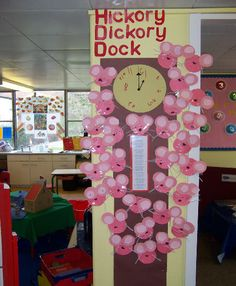 Hickory Dickory Dock nursery rhyme display
