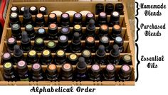 Organizing Your Essential Oils {Or Any Other Collection of Small Items}!