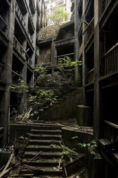 abandoned old buildings, stairway, factori, ruin, ghost towns, a thousand years, zombie apocalypse, place, island
