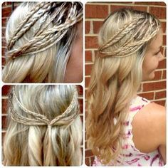 Half Up Braids & Curls - Hairstyles and Beauty Tips