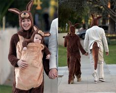 What a cute family! kangaroo costume, halloween costume ideas, costumes pregnant, babi thing, famili, halloween fun, coupl halloween, celeb halloween, family halloween costumes