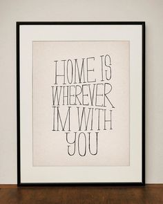home is wherever im with you- bedroom wall