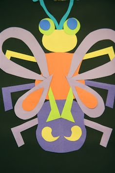 Here's a cool activity for  making symmetrical bugs.