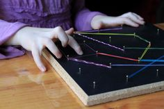 Mike Mulligan and His Steam Shovel {FI♥AR}- Discovering Shapes (geoboard)
