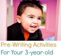 Pre-Writing Activities For Your 3-Year-Old
