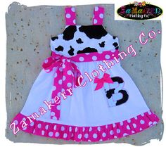 Custom Boutique Clothing Cute Girl Cow N by ZamakerrClothingCo, $35.99