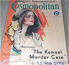 $76 COMPLETE ISSUE OF COSMOPOLITAN MAGAZINE FOR 11/1932. COVER BY HARRISON FISHER. NEAR FINE