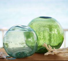 PB Found Glass Buoys | Pottery Barn #PBPINS
