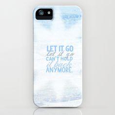 frozen, let it go lyrics...  iPhone & iPod Case by studiomarshallarts - $35.00
