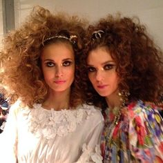 Supersized hair at Chanel's Dubai show