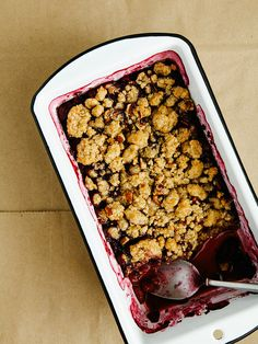 Summer fruit pecan crisp by Ashlae | oh, ladycakes,