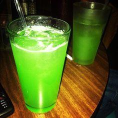 Liquid Marijuana!   1/2 oz. Rum, spiced (Captain Morgan's)  1/2 oz. Curacao, blue  1/2 oz. Rum, coconut (Malibu)  1/2 oz. Liqueur, melon (Midori)  Fill with Pineapple Juice  1 splash Sour Mix  Ice  Shake and Pour!