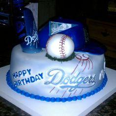 Los Angeles Dodgers Birthday Cake
