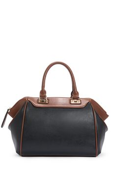 This sleek, earthy satchel makes for an easy fall transition.