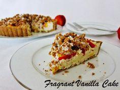 Raw Nectarines and Cream Crumble Tart from Fragrant Vanilla Cake