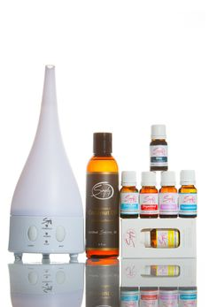 Home Wellness Package #2 Includes:  1 - Bloc Essential Oil (Pain Relief Blend) 10mL 1 - Digestese Essential Oil (Digestive Blend) 10mL 1 - OxyZen Essential Oil (Respiratory Blend) 10mL 1- Lavender Essential Oil 10mL 1 - Lemon Essential Oil 10mL 1 - Peppermint Essential Oil 10mL 1 - Fractionated Coconut Oil 6oz 1 - Ultrasonic Aromatherapy Diffuser