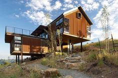 Solar-Powered Sunshine Canyon House Rises from a Forest Fire Ashpit with a Gorgeous Rustic Design