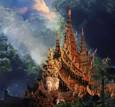 The temple of truth in Pattaya, Thailand.