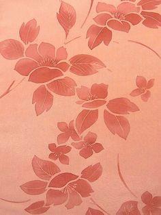Elegant Flower Pattern Silk Bolt for Komon