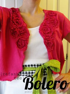 Floral bolero from T shirt