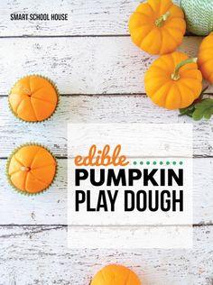Edible Pumpkin Play Dough. A homemade play dough recipe