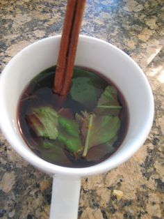Zesty Cinnamon Basil Berry Tea from pg 21 in my newest book S.A.S.S! Yourself Slim.