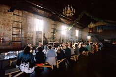 warehouse dinner party