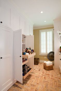Built-in Storage traditional laundry room