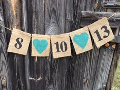 Save the Date Burlap Bunting Banner,engagement photo prop. $15.00, via Etsy.