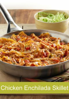 Made in a single skillet, this recipe is sure to be a dinner favorite in your home. Try this easy Chicken Enchilada Skillet tonight!