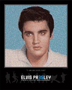 Official Elvis Presley 35th Anniversary Fan Mosaic - Fan Mosaics