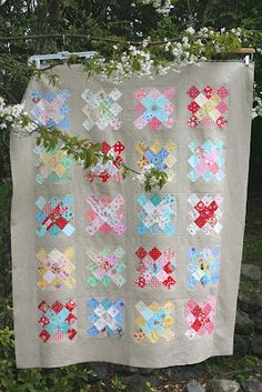 lovely little handmades: granny squares quilt top!