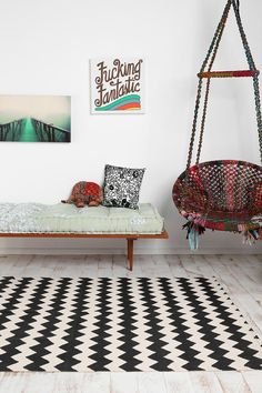 Fun! Zigzag Printed Rug from Urban Outfitters $69.00