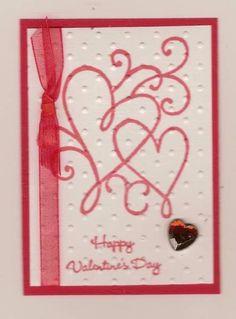 Stamped Valentine ATC
