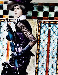 Deauville Rendezvous, Stella Tennant, British Vogue, September 2012 | Mario Testino
