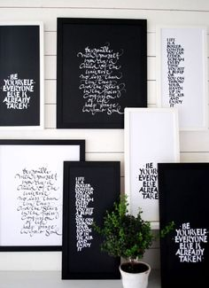 :: QUOTES :: lovely collection for your walls #quotes